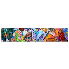 Color Butterfly Texture Flano Scarf (Small)