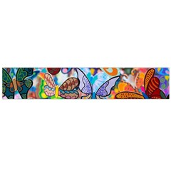 Color Butterfly Texture Flano Scarf (Large)