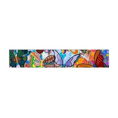 Color Butterfly Texture Flano Scarf (Mini)