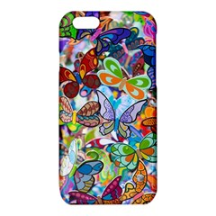 Color Butterfly Texture iPhone 6/6S TPU Case