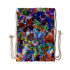 Color Butterfly Texture Drawstring Bag (small)