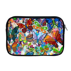 Color Butterfly Texture Apple Macbook Pro 17  Zipper Case