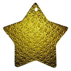 Patterns Gold Textures Ornament (star)