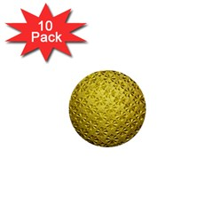 Patterns Gold Textures 1  Mini Buttons (10 pack)