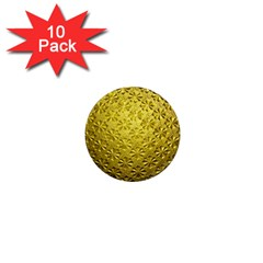 Patterns Gold Textures 1  Mini Magnet (10 Pack)