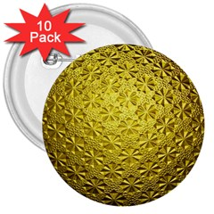 Patterns Gold Textures 3  Buttons (10 pack)