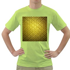 Patterns Gold Textures Green T-Shirt