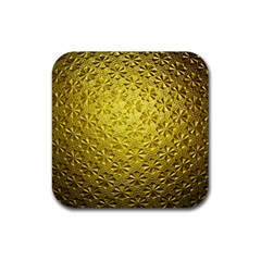 Patterns Gold Textures Rubber Square Coaster (4 pack)