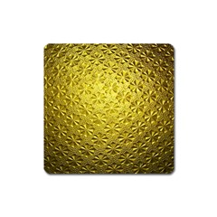 Patterns Gold Textures Square Magnet