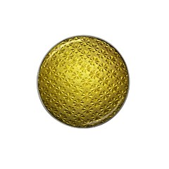 Patterns Gold Textures Hat Clip Ball Marker (4 pack)