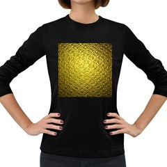 Patterns Gold Textures Women s Long Sleeve Dark T-Shirts