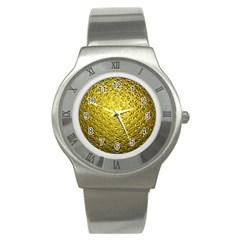Patterns Gold Textures Stainless Steel Watch