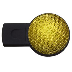 Patterns Gold Textures Usb Flash Drive Round (4 Gb)
