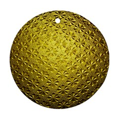Patterns Gold Textures Round Ornament (Two Sides)