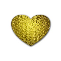 Patterns Gold Textures Heart Coaster (4 Pack)