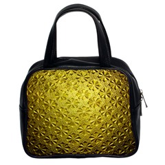 Patterns Gold Textures Classic Handbags (2 Sides)