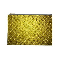 Patterns Gold Textures Cosmetic Bag (Large)