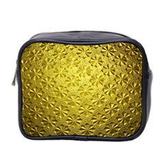 Patterns Gold Textures Mini Toiletries Bag 2 Side