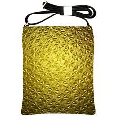 Patterns Gold Textures Shoulder Sling Bags