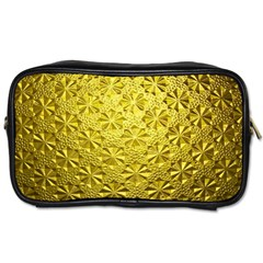 Patterns Gold Textures Toiletries Bags