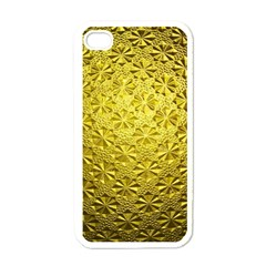 Patterns Gold Textures Apple Iphone 4 Case (white)