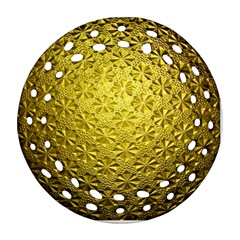 Patterns Gold Textures Round Filigree Ornament (Two Sides)