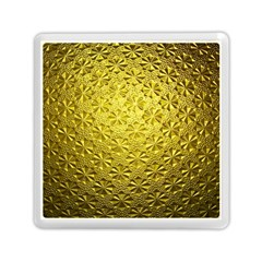 Patterns Gold Textures Memory Card Reader (square)