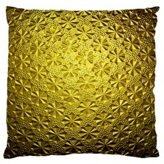 Patterns Gold Textures Large Cushion Case (One Side)