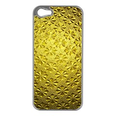 Patterns Gold Textures Apple Iphone 5 Case (silver)
