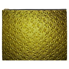 Patterns Gold Textures Cosmetic Bag (XXXL)