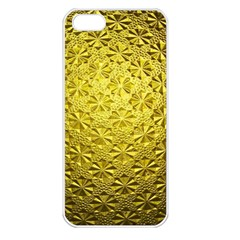 Patterns Gold Textures Apple iPhone 5 Seamless Case (White)