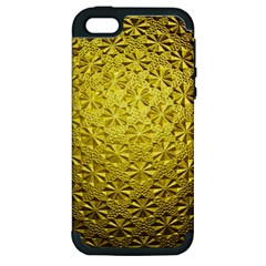 Patterns Gold Textures Apple Iphone 5 Hardshell Case (pc+silicone)