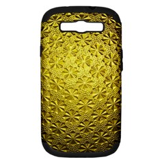 Patterns Gold Textures Samsung Galaxy S III Hardshell Case (PC+Silicone)