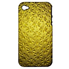 Patterns Gold Textures Apple iPhone 4/4S Hardshell Case (PC+Silicone)