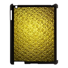 Patterns Gold Textures Apple iPad 3/4 Case (Black)