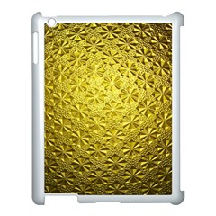 Patterns Gold Textures Apple iPad 3/4 Case (White)