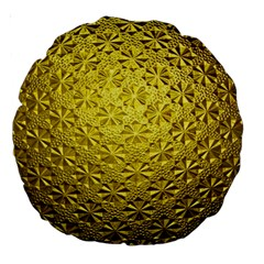 Patterns Gold Textures Large 18  Premium Round Cushions