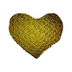 Patterns Gold Textures Standard 16  Premium Heart Shape Cushions