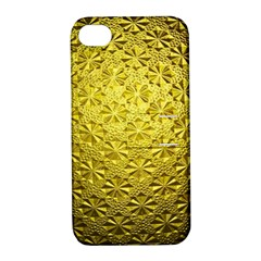 Patterns Gold Textures Apple iPhone 4/4S Hardshell Case with Stand