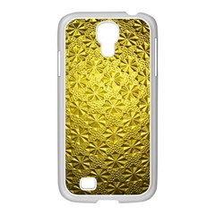Patterns Gold Textures Samsung GALAXY S4 I9500/ I9505 Case (White)