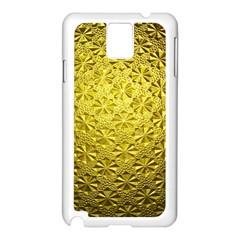 Patterns Gold Textures Samsung Galaxy Note 3 N9005 Case (White)