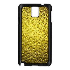 Patterns Gold Textures Samsung Galaxy Note 3 N9005 Case (Black)
