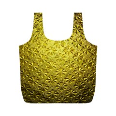 Patterns Gold Textures Full Print Recycle Bags (M)
