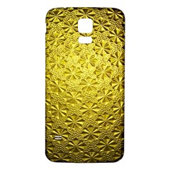 Patterns Gold Textures Samsung Galaxy S5 Back Case (white)