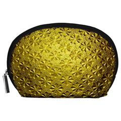 Patterns Gold Textures Accessory Pouches (Large)