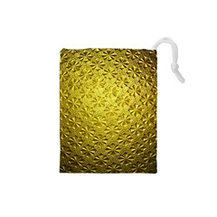 Patterns Gold Textures Drawstring Pouches (Small)
