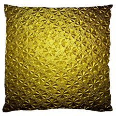 Patterns Gold Textures Large Flano Cushion Case (Two Sides)