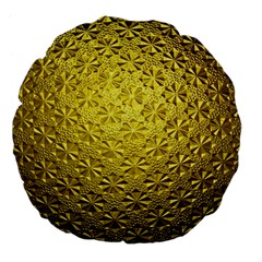 Patterns Gold Textures Large 18  Premium Flano Round Cushions
