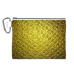 Patterns Gold Textures Canvas Cosmetic Bag (L)