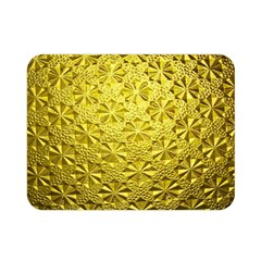 Patterns Gold Textures Double Sided Flano Blanket (Mini)